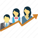 career growth, company growth, employee development, employee growth icon