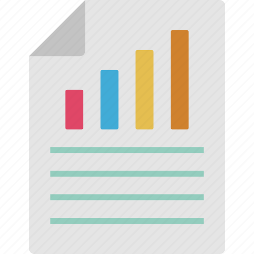 bar graph, business analysis, business chart, business report icon