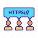 address, browser, certificate, connection, contour, https icon