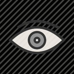 eye, focus, iris, look, style, view, vision icon