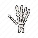 body, care, fingers, hand, health, nails, pain icon