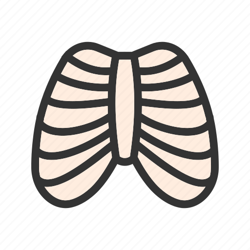 body, health, human, ribcage, shape, system icon