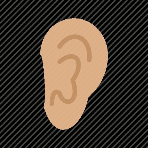 ear, healthcare, hearing, listening, sensory, silence, sound icon
