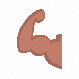 anatomy, arm, biceps, body, fitness, flexing, muscle icon