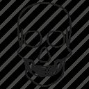 bones, danger, fear, skeleton icon