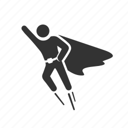 cape, fly, flying, human, super hero, super powers, superman icon