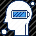battery, brain, human