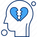 brain, human, heartbroken