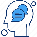 brain, chat, human