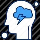 brain, cloud, human