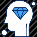 brain, diamond, human