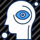 brain, eye, human