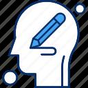 brain, human, pencil