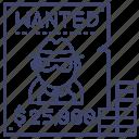 wanted, list, reward, bounty, hunter