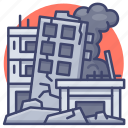 destroy, earthquake, war, bomb