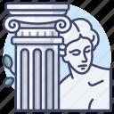 greek, myth, column, culture