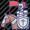 knight, medieval, horse, armor