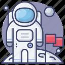 moon, landing, astronomy, astronaut
