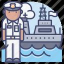 navy, captain, sailor, ship