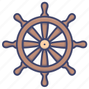 rudder, sailling, steering, wheel