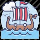 viking, ship, pirate, sailing
