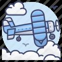 vintage, aircraft, retro, airplane icon