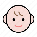 baby, emoji, happy, human face icon