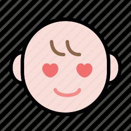 baby, emoji, human face, love icon