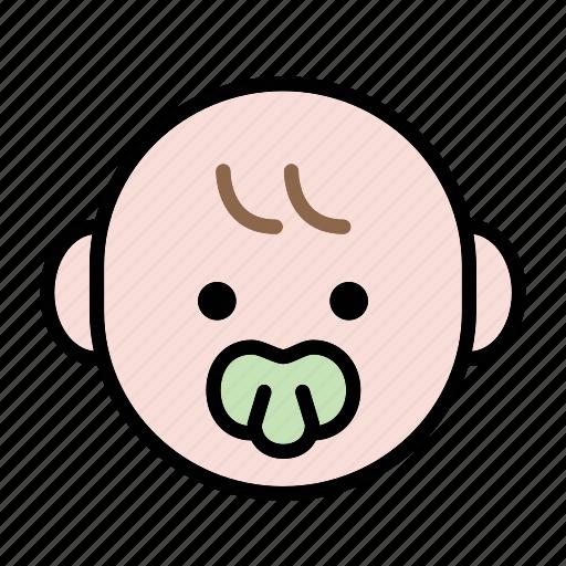baby, emoji, human face, normal icon