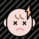 baby, emoji, human face, sick icon