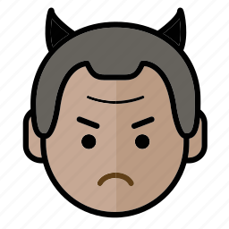 angry, emoji, human face, man1 icon