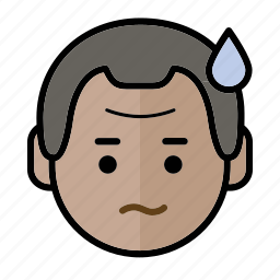 emoji, helpless, human face, man1 icon