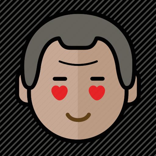 emoji, human face, love, man1 icon