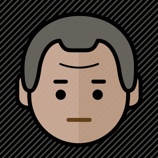 emoji, human face, man1, normal icon