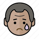 emoji, human face, man1, sad icon