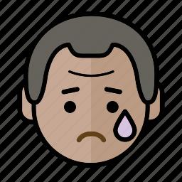 emoji, human face, man1, sad icon