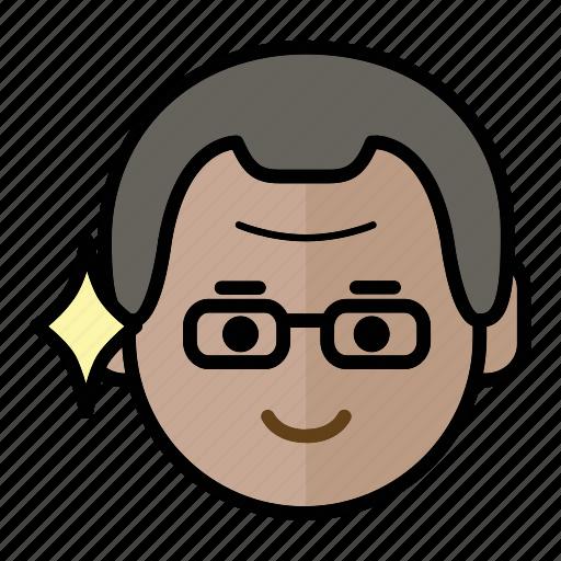 emoji, human face, man1, smart icon