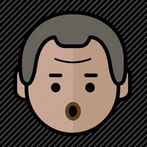 emoji, human face, man1, surprise icon