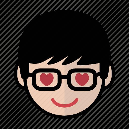 emoji, human face, love, man2 icon