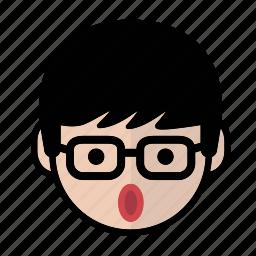 emoji, human face, man2, surprise icon