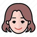 emoji, happy, human face, woman1 icon