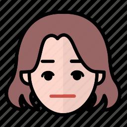 emoji, human face, normal, woman1 icon