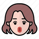 emoji, human face, surprise, woman1 icon
