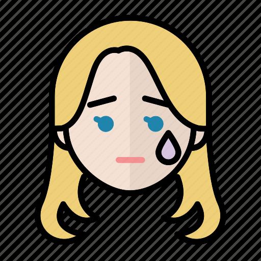 Emoji, human face, sad, woman2 icon - Download on Iconfinder