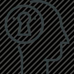 mind, secrecy icon