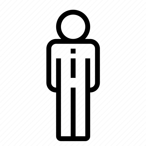 business, businessman, company, employee, man, standing, worker icon