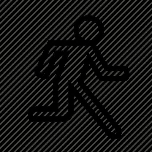 fast, man, moving, person, run, running, rushing icon