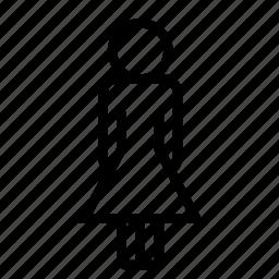 body, female, figure, girl, person, woman icon