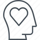 heart, love, pen, pencil, skill, skills, soft skills icon