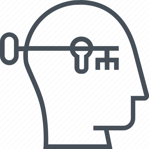 brain, business, head, human, key, mind, solution icon